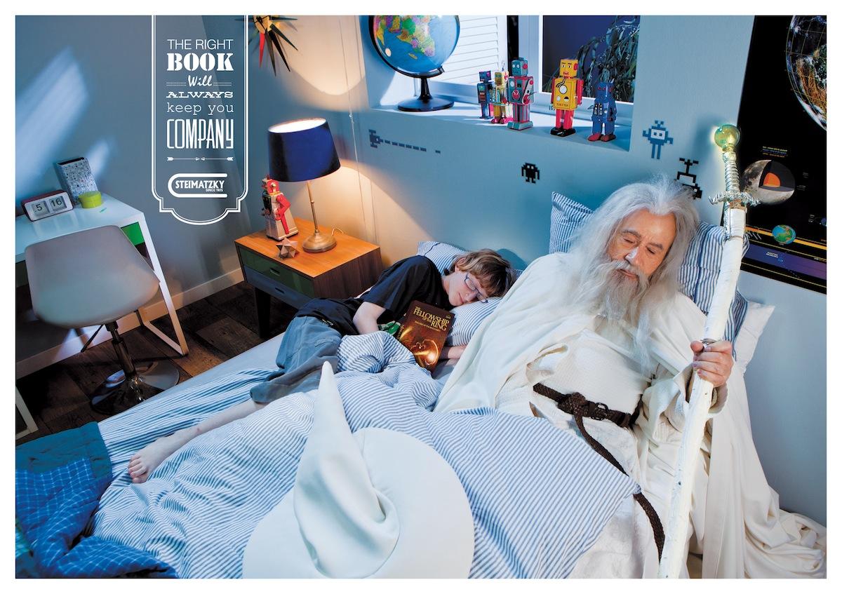 Steimatzky ad campaign Gandalf
