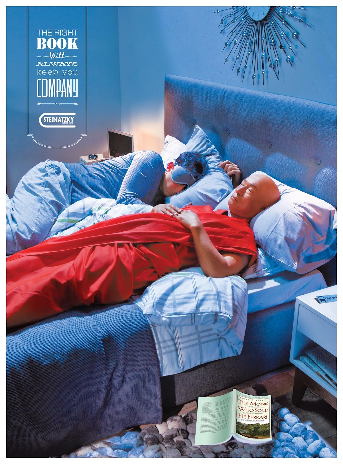 Steimatzky ad campaign The Monk Who Sold His Ferrari