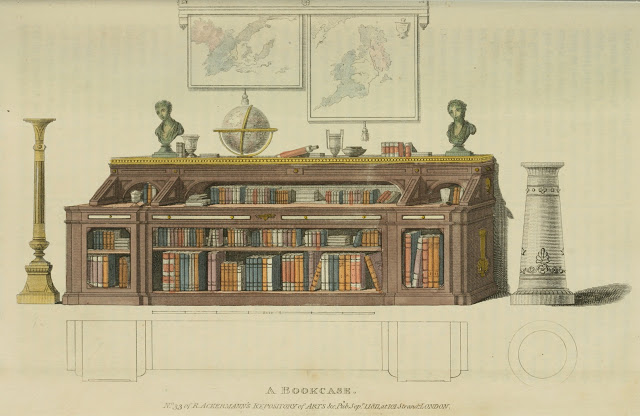 Ackermann's Repository 1811 v6 Furniture plate 15 - A Bookcase