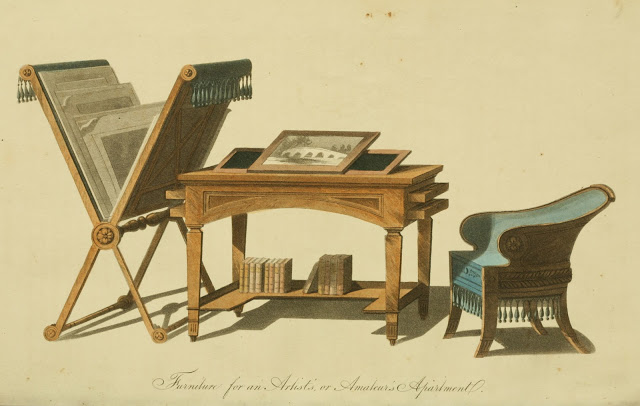 Ackermann's Repository 1815 v14 Furniture plate 3