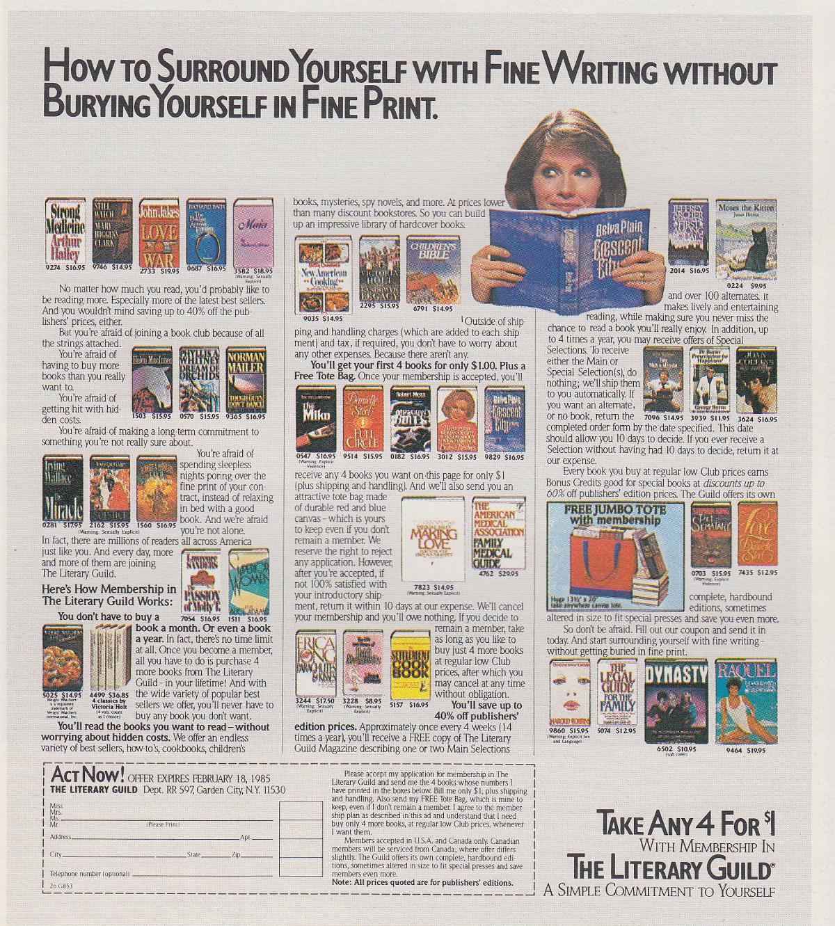 Literary Guild Ad