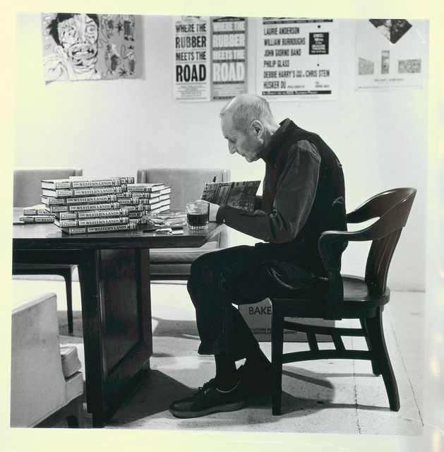 William Burroughs signing Western Lands