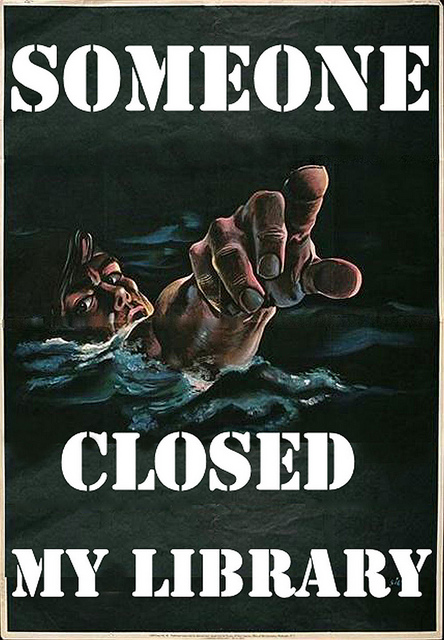 library posters phil bradley closed