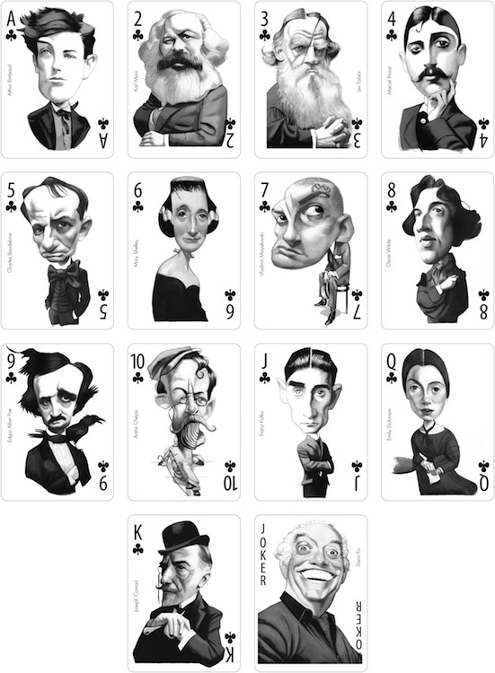 Vicente playing cards clubs