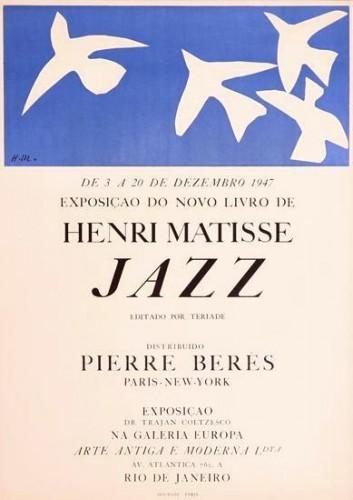 Matisse-Jazz-Jazz. 1947 Original Lithographic Poster
