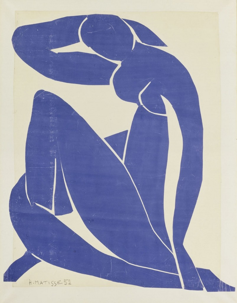 matisse cut outs bluenude