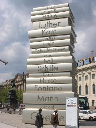 modern book printing sculpture nazi